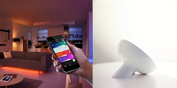Lámpara Philips Hue Bloom con aplicación móvil idónea para crear escenas cromáticas en oferta