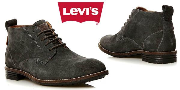 Levi's Huntington Chukka botines para hombre en cuero baratos