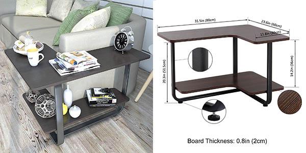 Lifewit mesa auxiliar para salón funcional con gran relación calidad-precio