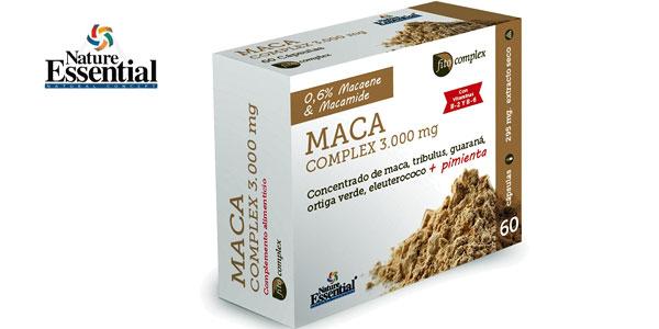 Maca Complex 3.000 mg 60 Cápsulas de concentrado de maca, tribulus, guaraná, ortiga verde, eleuterococo y pimienta barato en Amazon