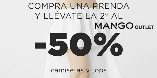 Mango Outlet camisetas y tops con descuento en la segunda unidad marzo 2018
