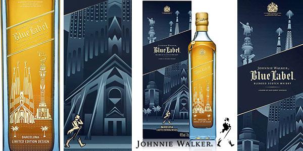 Whisky Johnnie Walker Blue Label de 700 ml Edición Limitada Barcelona rebajado