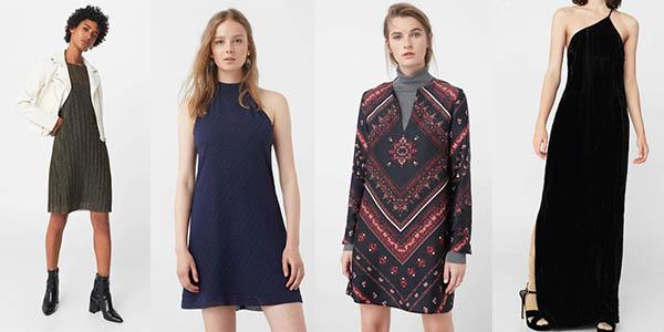 ofertas en vestidos elegantes y casuales para mujer Mango Outlet