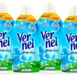 Pack 4 botellas de Vernel Suavizante Concentrado cielo Azul 57 lavados barato en Amazon