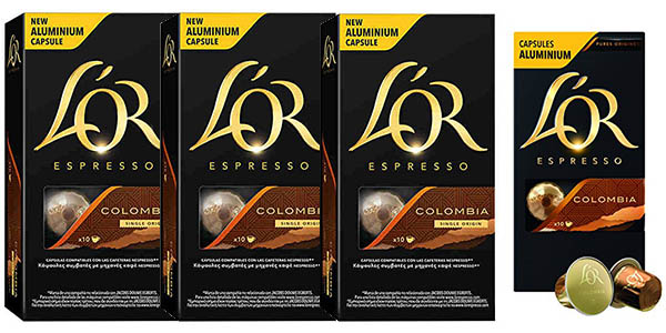 pack 4 cajas café L'OR Espresso Colombia en oferta