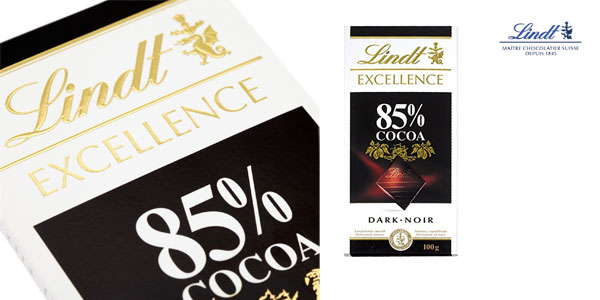 Pack 4 tabletas Chocolate negro Lindt Excellence 85% cacao chollo en Amazon