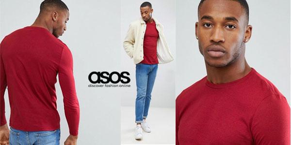 Pack de 5 camisetas de manga larga y cuello redondo de Asos para hombre chollo en Asos