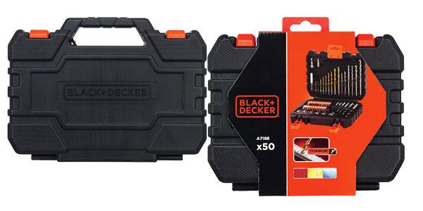 Black+Decker A7188 - Pack de 50 piezas para atornillar y taladrar chollo en Amazon