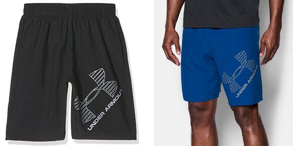 Pantalón corto de deporte Under Armour UA 8 Woven Graphic para hombre en oferta