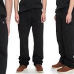 Pantalones chinos DC Shoes Worker Relaxed de color negro para hombre baratos