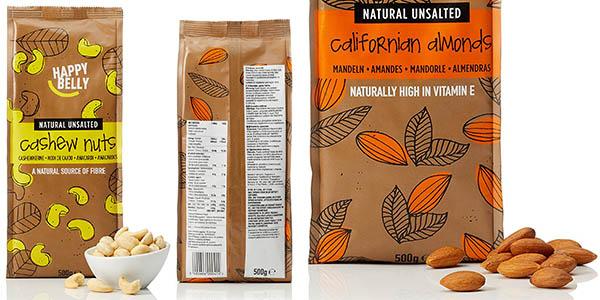 paquetes de almendras Happy Belly con gran relación calidad-precio