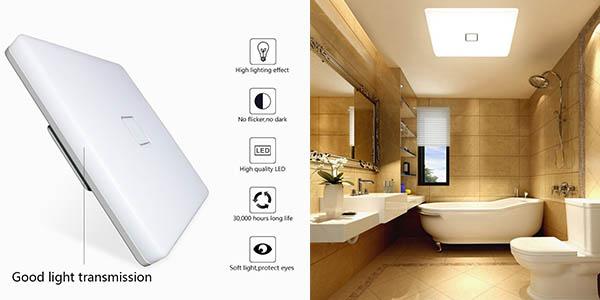 plafón LED para estancias húmedas de diseño atemporal en plástico oferta