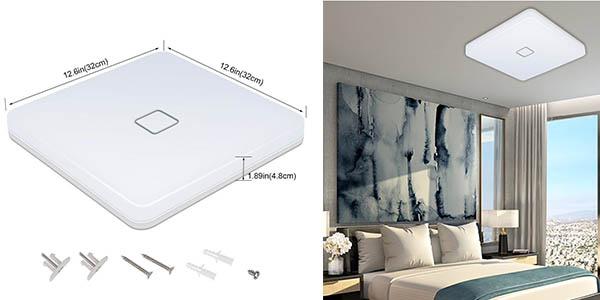 plafón de techo iluminación blanca intensa a precio brutal