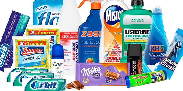 productos de supermercado con grandes ofertas en el Pack ahorro Mequedouno marzo 2018