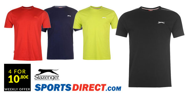 Comprar chollo 4 camisetas Slazenger en Sports-Direct