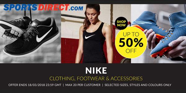 Promoción Hasta -50% en Nike en las ofertas semanales de Sportsdirect
