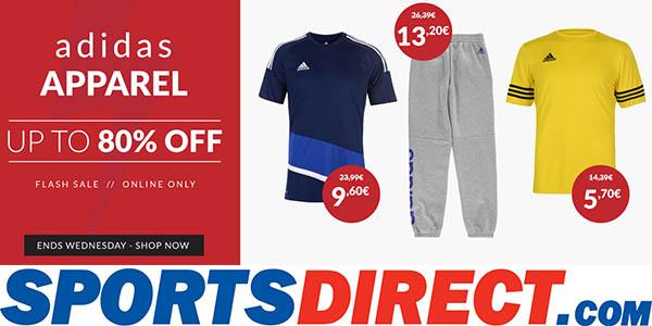 promoción chollos flash Adidas en Sports Direct marzo 2018