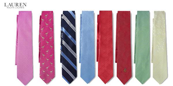 Promoción corbatas rebajadas Lauren Ralph Lauren en Primeriti