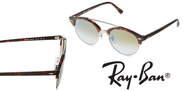Ray-Ban Shiny Red Havana gafas de sol con montura en acetato redondas baratas