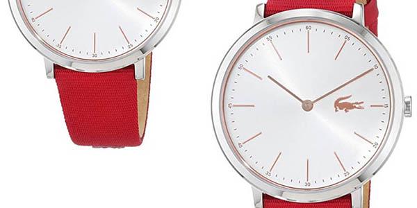 reloj de pulsera Lacoste Watches con correa roja en oferta