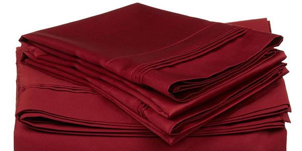 sábanas para cama doble de calidad superior en algodón satinado a precio brutal