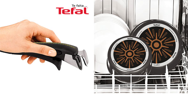 Set de 17 piezas Tefal Ingenio Essential con mango extraíble chollazo en Amazon