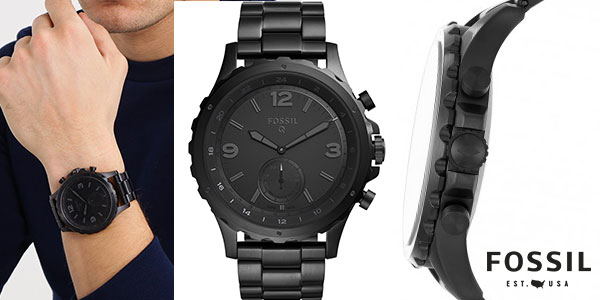 8f6af6bde1ef Chollo Smartwatch híbrido Fossil Q Nate con bluetooth y monitor de ...