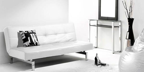 Sof cama duehome chic con tapizado acolchado y sistema for Sofa cama calidad precio