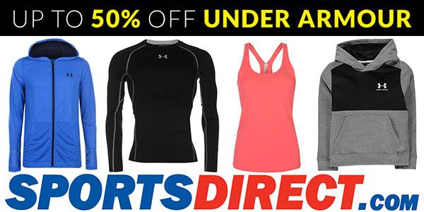 Sports Direct promoción ropa Under Armour rebajada marzo 2018