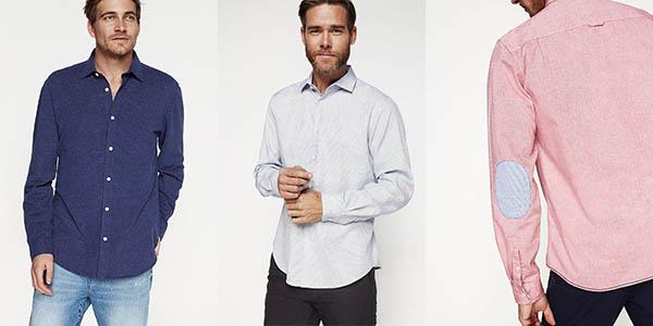 Springfield camisas para hombre elegantes a precio brutal
