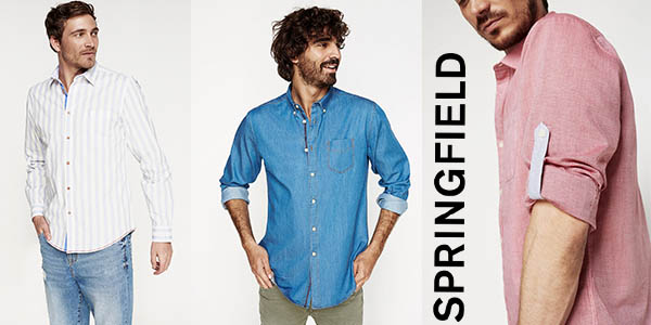 Springfield promoción camisas baratas marzo 2018