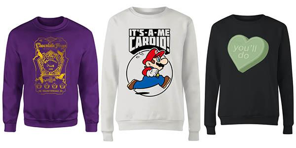 sudaderas y camisetas con diseños originales de series y videojuegos baratas