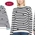 Suéter a rayas edc by Esprit para mujer barato en Amazon