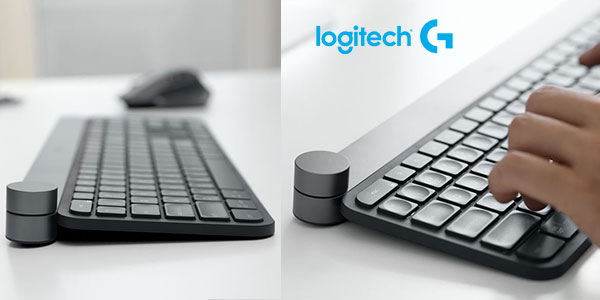 Teclado inalámbrico Logitech Craft para Windows y Mac con selector creativo barato