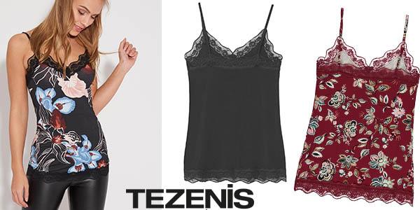 Tezenis promoción camisetas interior con encaje baratas marzo 2018