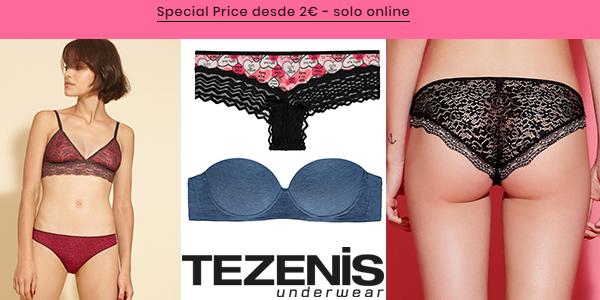 Tezenis Special Prize ofertas en ropa interior para mujer marzo 2018