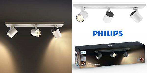Triple foco LED orientable Philips Hue White Ambiance Runner barato