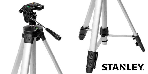 Trípode fotográfico telescópico Stanley 1-77-201 de aluminio con cabezal inclinable barato