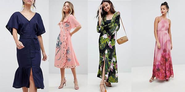 vestidos casuales y elegantes para mujer en Asos con grandes rebajas