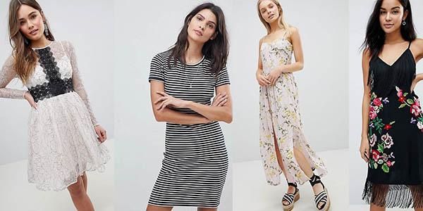 vestidos para mujer con diseños variados en oferta con primeras marcas en Asos