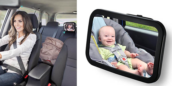 Espejo retrovisor victsing para coche id neo para vigilar al beb por s lo 14 99 - Espejo coche bebe amazon ...