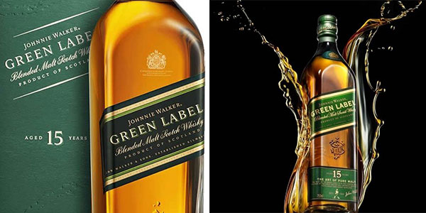 Whisky escocés Johnnie Walker Green Label (15 años) de 700 ml rebajado