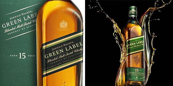 Whisky escocés Johnnie Walker Green Label (15 años) de 700 ml rebajado