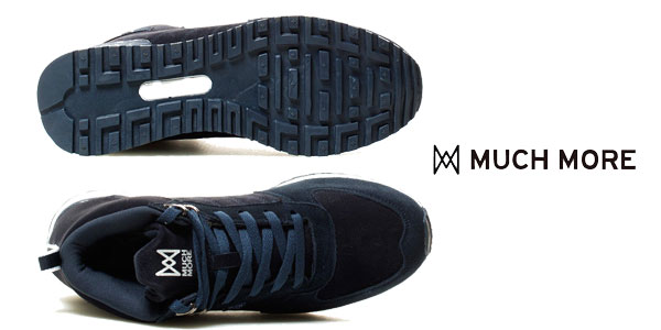 Zapatillas de piel combinada Much More Gaten para hombre azul marino baratas en eBay