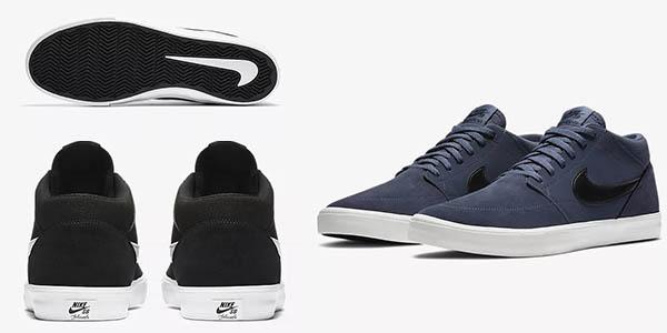 zapatillas botín Nike SB Solarsoft Portmore II Mid para hombre en oferta