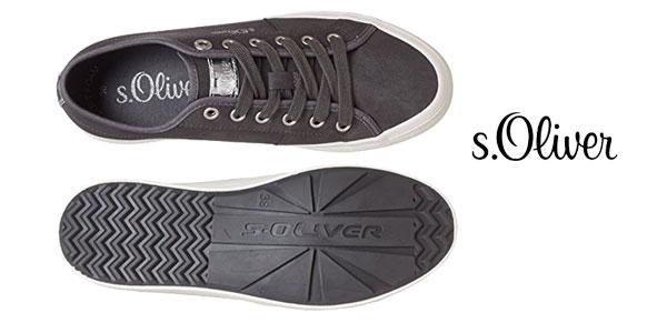 Zapatillas s.Oliver 23602 de cuero sintético en color gris para mujer chollazo en Amazon