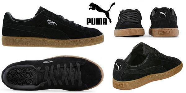 Zapatillas de piel Puma Basket Classic de color negro baratas