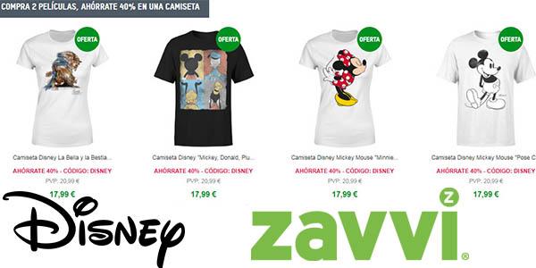 Zavvi promoción camisetas Disney rebajadas marzo 2018