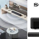 Barra de sonido Sony HTSF200 2.1 con subwoofer y bluetooth barata