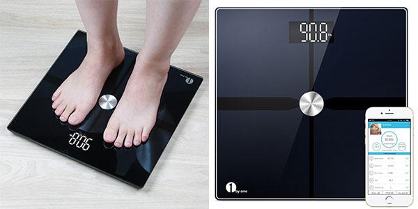 Báscula inteligente 1byone de grasa corporal con Bluetooth barata